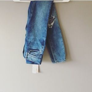 NWT Free People Busted Knee Skinny Blue Jeans 24L